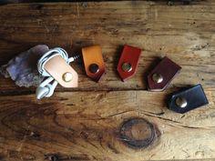 Handmade Leather Headphone Holder ((( customizable hardware ))) HAND CUT & STAINED