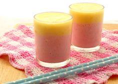 Layered Strawberry Mango Smoothie