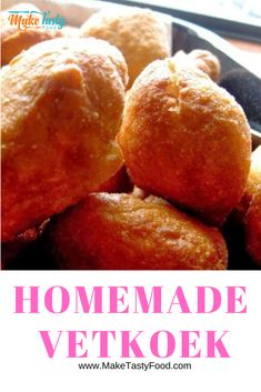 Homemade Vetkoek, are a favorite south african recipe that is versatile and made with different fillings. Simple jam or curry mince filled vetkoeks. Oven Chicken Recipes, Dutch Oven Recipes, My Recipes, Cooking Recipes, Bread Recipes, Burger Recipes, Curry Recipes, Dinner Recipes, Favorite Recipes