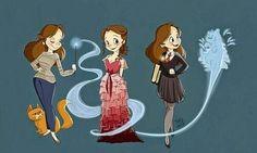 """1,995 curtidas, 80 comentários - @fan_de_potter no Instagram: """"Hermione♡ Vous préférez quelle tenue?"""""""