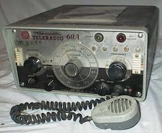 Transceiver. The Teleradio 60A is a hybrid AM maritime HF transciever. It covers 2 to 10mhz in 2 bands. The transistorised receiver, has variable tuning and also has 5 crystal locked positions. The transmitter has 5 cryatsal locked positions, and uses 2 valves, 12BY7 and 6883 (12 volt version of the 6146). It was made by AWA about 1970