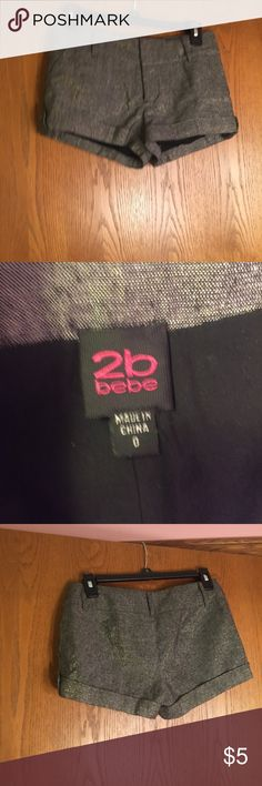 Bebe shorts size 0 From my daughters closet! Shorts from 2b bebe size 0. No flaws. Accepting all offers 2B Bebe Shorts