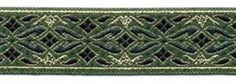 "10 yard lot ~ 7/8"" Green Gold Fabric Trim  Our Price: $25.00 Availability:: Usually Ships in 2 to 3 Weeks Product Code: L7203 	 celtictrims.com"