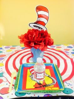 Melissa F's Birthday / Dr Seuss - Photo Gallery at Catch My Party 1st Birthday Boy Themes, Dr Seuss Birthday Party, First Birthday Parties, First Birthdays, Birthday Ideas, Holidays And Events, Baby Boy Shower, Party Ideas, Dr Suess