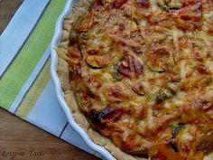 Tarta warzywna z salami - przepisy.net