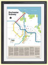 Modern Rochester Subway Map