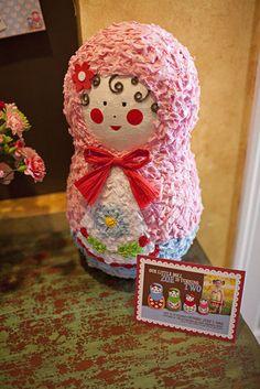 Pinata: A Matryoshka doll pinata from Etsy's Birchangel Pinatas.  Source: Wendy Updegraff Photography