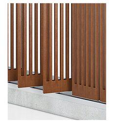 Fabricación brise soleil madera lamas orientables