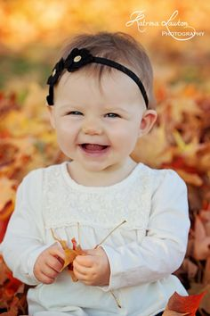 Fall photography 8 month old baby girl