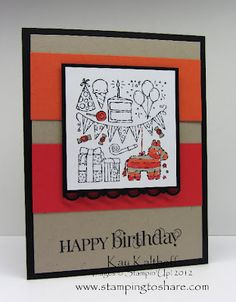 stampin up packed for birthday - Google Search