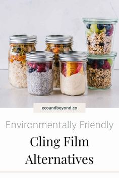 Are you trying to remove all single-use plastic from your life? If yes, awesome! Have you thought about swapping out cling film for something more eco friendly? There are some great substitutes for plastic wrap on the market. They'll have you saying goodbye to cling film – and consuming less plastic – in no time! #plasticfree #zerowaste #ecolifestyle #greenliving Canning Process, Canning Tips, Canning Recipes, Salsa For Beginners, Recipes For Beginners, Gallon Mason Jars, Drink Containers, Fruit Cups, Fruit In Season