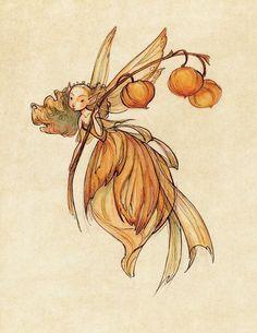 Mittsommer Feen - Laterne: Kunstdruck Midsummer Fairies Lantern: x 11 Art Print by CaseyRobinArt Art And Illustration, Art Illustrations, Fairy Drawings, Fantasy Drawings, Fairy Lanterns, Arte Sketchbook, Flower Fairies, Fairy Art, Magic Fairy