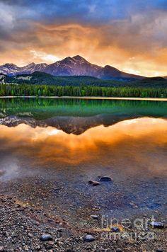 Sunset at Lake Edith, Jasper National Park, Alberta, Canada; photo by Tara Turner