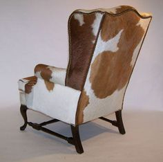 cowhide wing chair - Google Search
