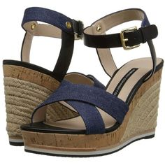 French Connection Lata Women's Wedge Shoes ($150) ❤ liked on Polyvore