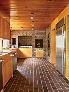 The kitchen of the Louis Kahn-designed Korman house