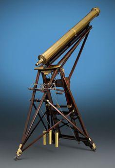 Antique Scientific Instruments, Telescopes, Swiss Brass Telescope ~ M.S. Rau Antiques