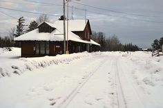Before the trains came in Jackman, Maine.