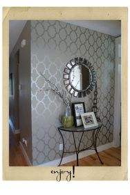 Love this stenciled wall !
