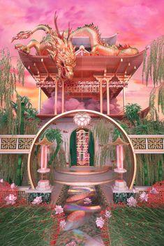 Fuchs Illustration, Japon Illustration, Aesthetic Backgrounds, Aesthetic Wallpapers, Aesthetic Space, Retro Aesthetic, Aesthetic Photo, 3d Artist, Fantasy Landscape