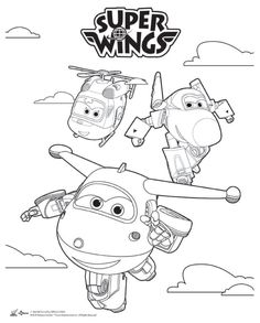 4th birthday toddler activities wings language 4 years colouring in log projects sketches party - Sprout Super Wings Coloring Pages
