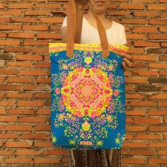 Your place to buy and sell all things handmade Beach Tote Bags, Canvas Tote Bags, Aztec Bag, Neon Bag, Backpack Organization, Neon Painting, Toiletry Bag, Canvas Fabric, Boho Hippie