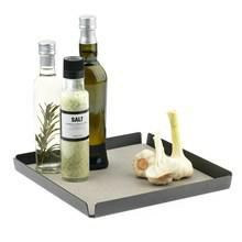 Lind DNA Bakke Tray Square Antracit/light grey