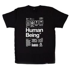 Human Being Black T-shirt