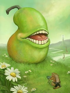 The Biting Pear of Salamanca, by Ursula Vernon. Also affectionately referred to as the LOLWUT pear.