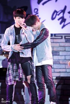 vkook hugging