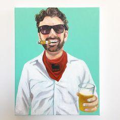 """Danny in Pamplona"" commission completed ✔️🐂❤️🍺 Running Of The Bulls, Instagram Artist, Pamplona, Figure Painting, Contemporary Art, Original Art, Mens Sunglasses, Men's Sunglasses, Modern Art"