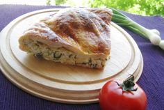 Retete Culinare - Placinta cu ceapa verde