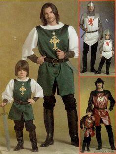 McCalls 5500 SEWING PATTERN Boys 3-8 King Arthur Costume Knight Medieval Helmet