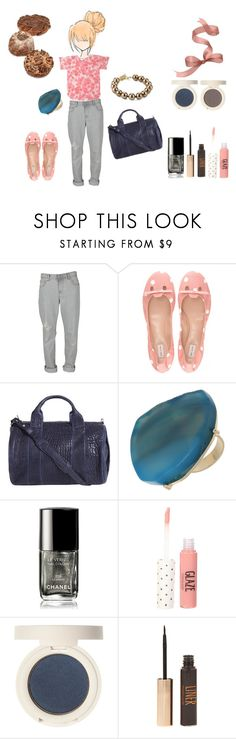 """""""HAPPY HAPPY HAPPY"""" by jolie-folie ❤ liked on Polyvore featuring Insight 51, Marc Jacobs, Alexander Wang, Carolee, Miss Selfridge, Chanel, boyfriend jeans, naive print and blouses"""