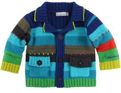 Boys Catimini Spirit Couleur Knitted Cardigan / Catwalk Kids