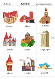 Kids Pages - Buildings