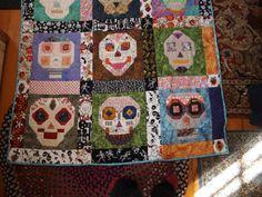 My Sugar Skull Quilt I made for Beth (Bottom Half)