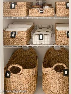 Organizing Ideas An Amazing Master Bath Linen Closet Transformation