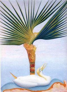 Palm Tree and Bird - Joseph Stella