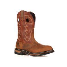 Rocky Original Ride Branson Roper Men's 11-in. Waterproof Western Work Boots, Size: medium (13), Brown