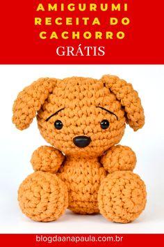 Amigurumi Patterns, Crochet Patterns, Knit Crochet, Crochet Hats, Diy, Teddy Bear, Make It Yourself, Knitting, How To Make