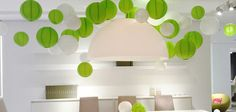 green paper lantern for wedding party decoration