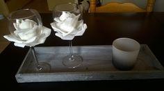 rozen in/om een glas cadeautje voor mn schoonmoeder