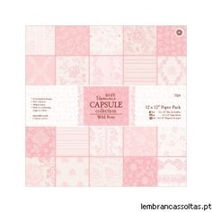 A Wild Rose é nova colecção Capsule da Papermania.   Trata-se de uma colecção fantástica em tons rosa que combina perfeitamente com as outras colecções de tons mais escuros.  Temos disponíveis packs de papel, botões e elementos pré cortados.   Confira aqui esta colecção: http://www.lembrancassoltas.pt/it-index-n-Wild_Rose-cPath-603.html