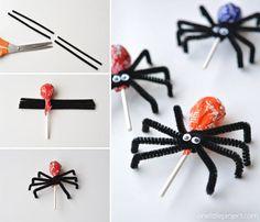 Lollypop Spiders Tutorial
