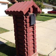 The Red Log Cabin Mailbox   @Carly Alyssa Thorne  #webstagram