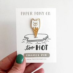 Polar Bear Cone Lapel Pin by ThePaperPonyCo on Etsy