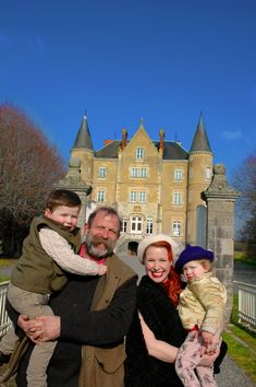 Dick and Angel Strawbridge and family - renovating French chateau Angel Adoree, Angel Strawbridge, Chateau De Gudanes, Praying For Our Country, Big Building, French Castles, Young Family, French Chateau, Restoration