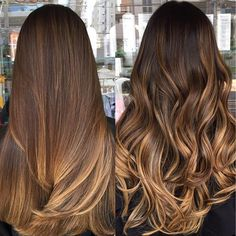 70 Ombre Hair Color Ideas For Blonde Brown Black Balayage Hair - TopBestLife - Part 17 Black Balayage, Brown Hair Balayage, Hair Color Balayage, Balayage Hair Brunette Caramel, Caramel Ombre Hair, Balyage Caramel, Balayage On Black Hair, Brown Bayalage, Balyage Long Hair