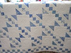 Blue and white quilt--love this pattern !!!